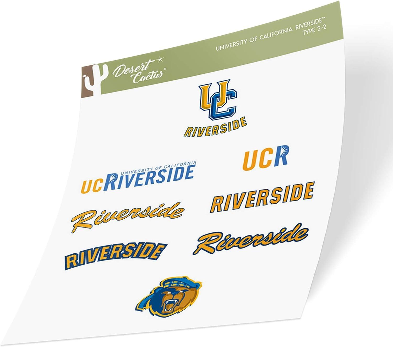 University of California Riverside UCR Highlanders NCAA Sticker Vinyl Decal Laptop Water Bottle Car Scrapbook Type 2 Sheet