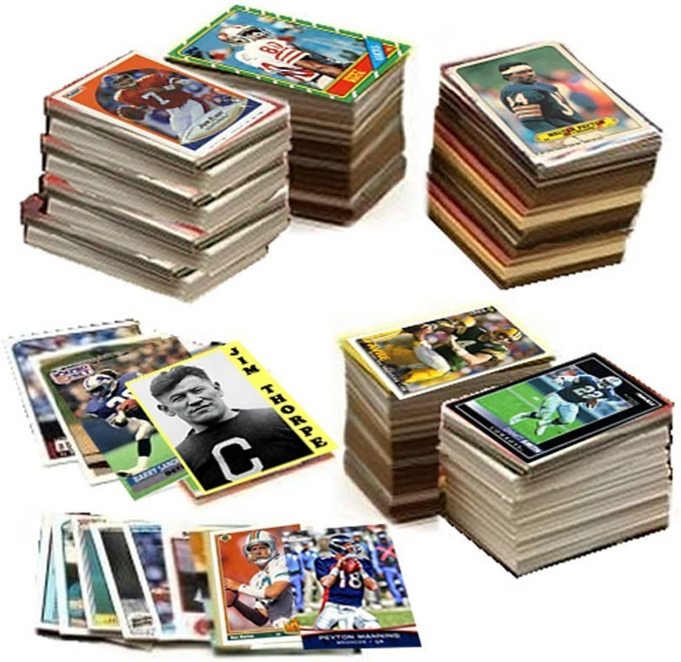 : 600 Football Cards Including Rookies, Many Stars