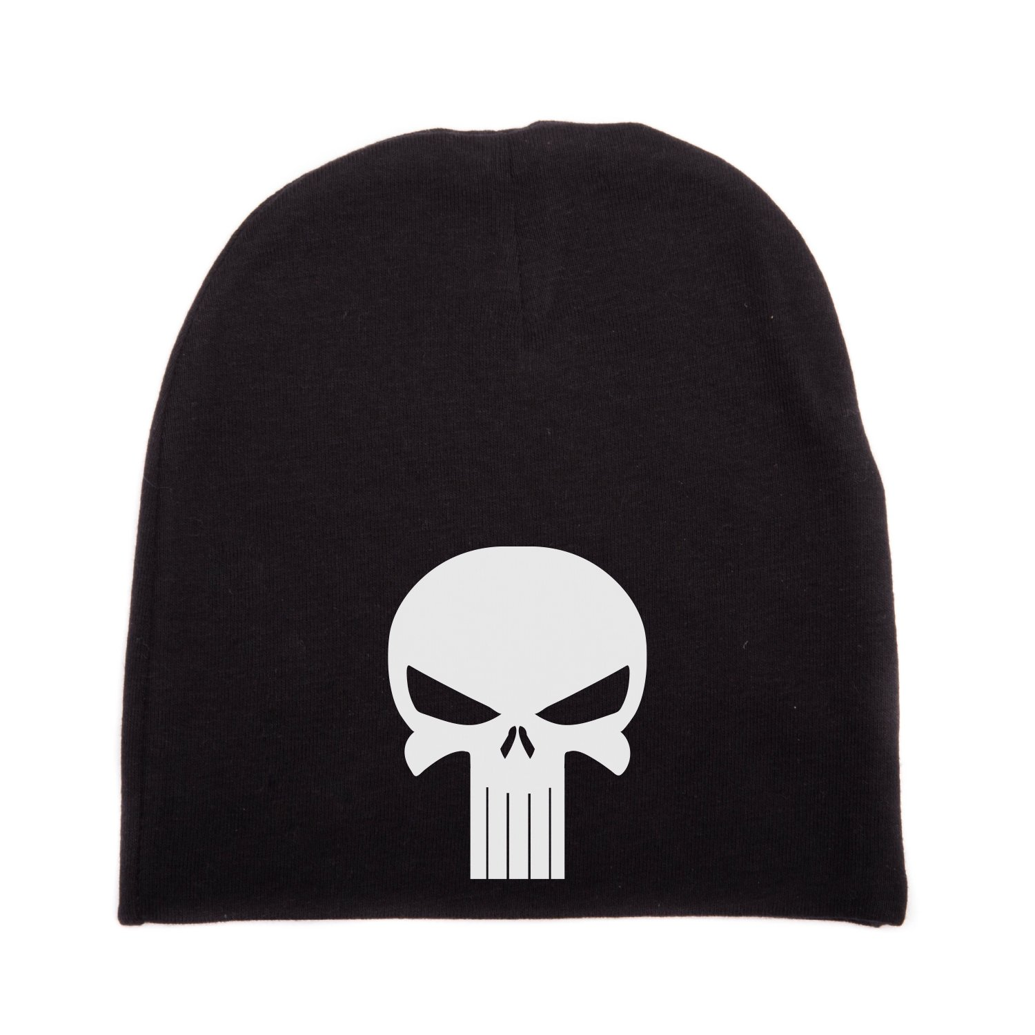 Amazon.com  Crazy Baby Clothing White Punisher Skull Infant Baby Beanie Cap  Winter Hat One Size e1f9214f616