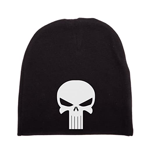 Crazy Baby Clothing White Punisher Skull Infant Baby Beanie Cap Winter Hat  One Size 5d520b3aa01a