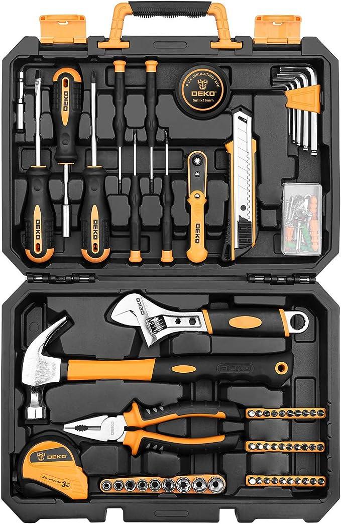 DEKO Juego de herramientas para reparaciones en el hogar de