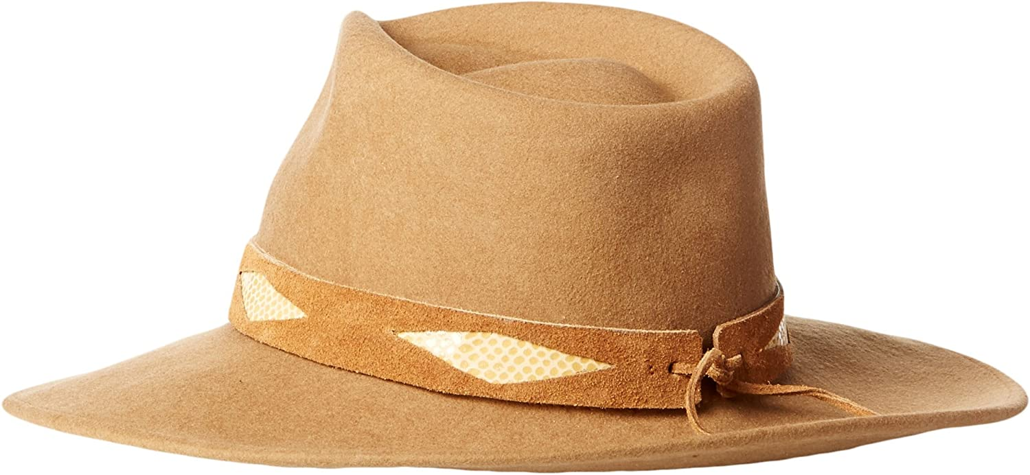 ale by Alessandra Womens Cobra Adjustable Felt Hat with Suede Trim