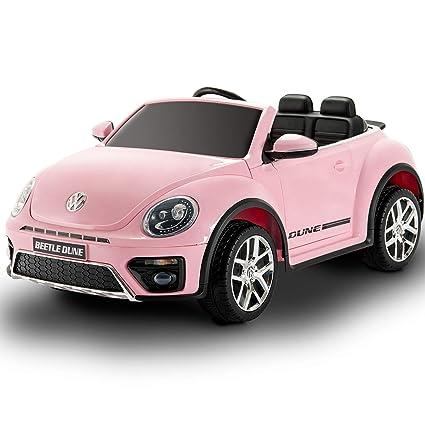 Amazon Com Uenjoy 12v Lovely Ride On Cars Volkswagen Beetle