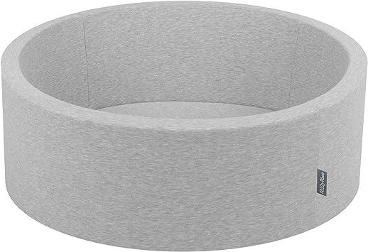 2.75In Baby Foam Ball Pit Certified Made In EU Black:White//Grey//Silver KiddyMoon 90X30cm//NO Balls /∅ 7Cm