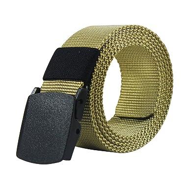 miglior servizio a70b4 60de2 Dokpav Cintura Militari Tattiche,Uomini Nylon Belt Cintura Ipoallergenico  Metallo Libero di Plastica Fibbia,140cm