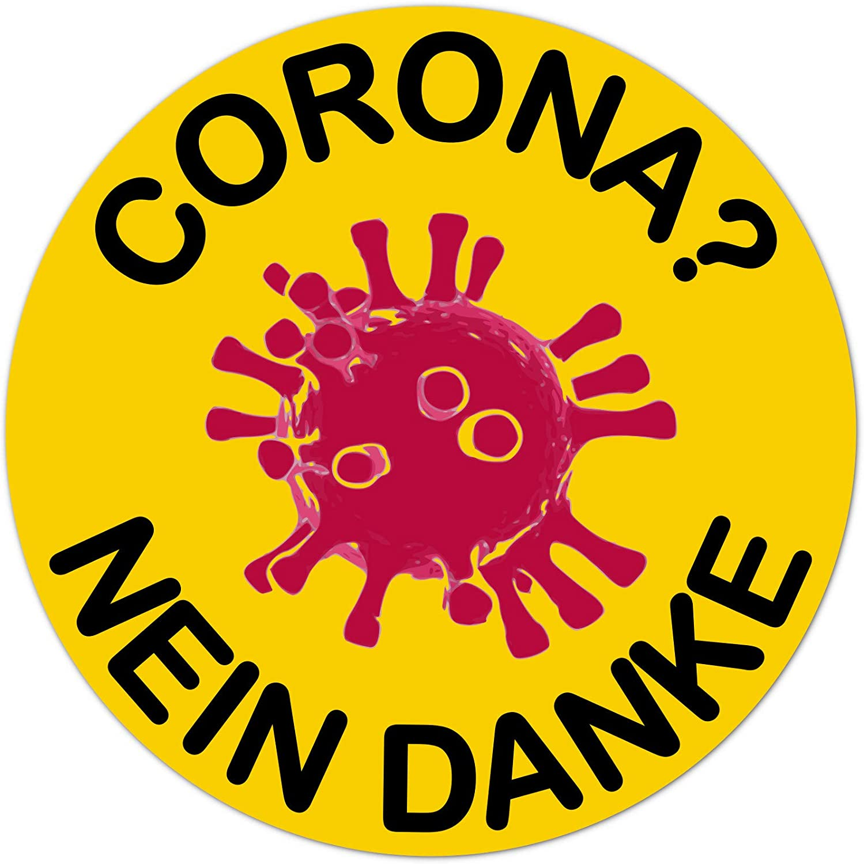 My Baby Shop Corona Nein Danke Aufkleber Anti Corona Protest Sticker Autoaufkleber 9cm Auto