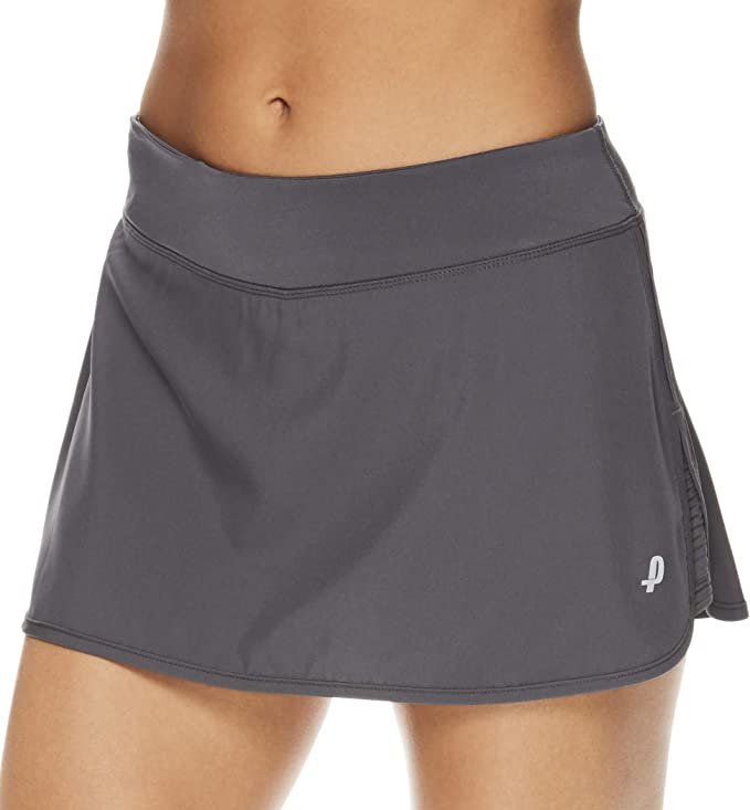 Penn Women's Spike Athletic Mini Skort for Performance Training Tennis Golf & Running - Medium Grey, Small