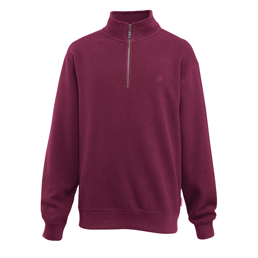 Wolverine Men's Denton Quarter Zip Pullover, Maroon, 2X-Large