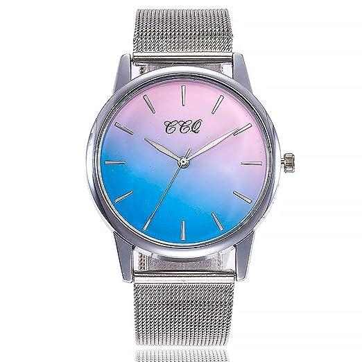 Relojes Mujer,❤LMMVP❤Casual de cuarzo de acero inoxidable banda de mármol correa reloj analógico reloj de pulsera (B): Amazon.es: Relojes