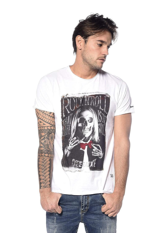 558c6cd676eb Deeluxe T-Shirt Rock Iggy Adulte - XXL - Blanc  Amazon.fr  Vêtements et  accessoires