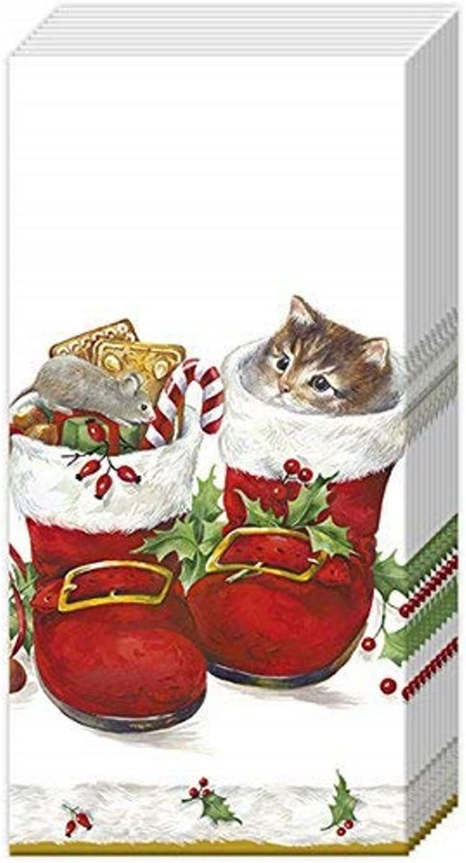1 Pack Of IHR Christmas Paper Pocket Handbag Tissues Merry Christmas