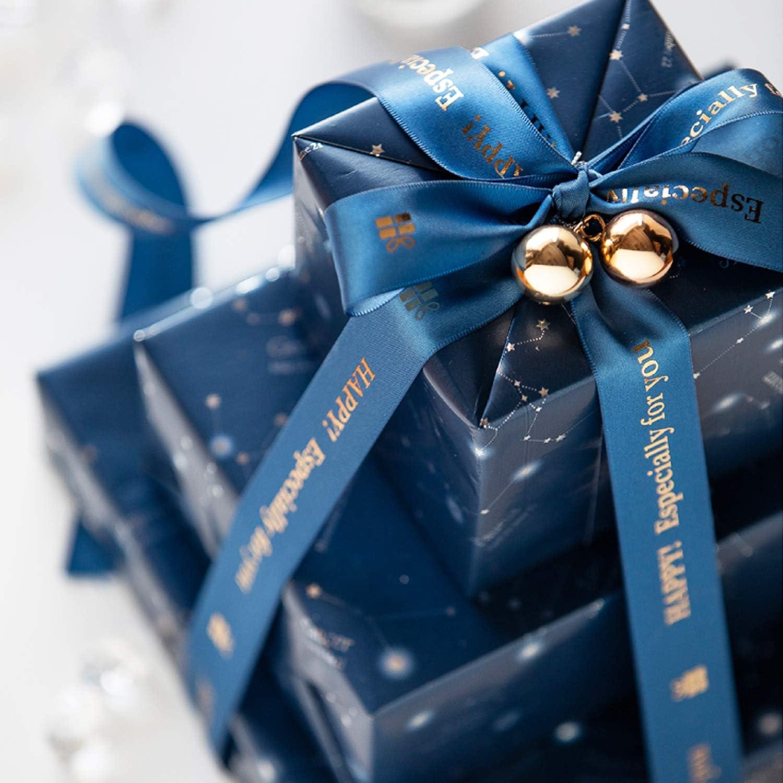 Weihnachten Ripsband Geschenkband Dekoband mit Frohe Weihnachten VEVIK 22m Satinband 10mm Schleifenband