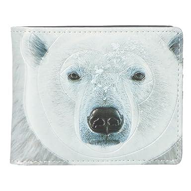 f7318edbab63 Shag Wear Men's Bifold Wallet Portrait Polar Bear