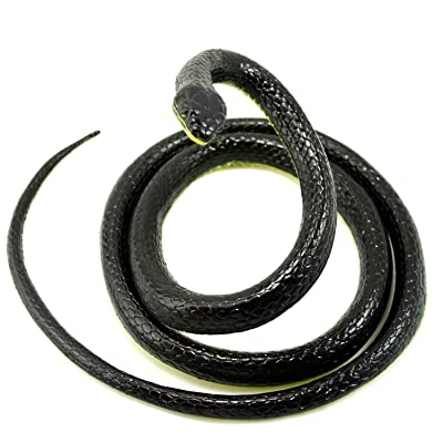 Vivian Realistic Rubber Snake Scary Gag Gift Funny Prank Joke Toy 52 Inch Long: Toys & Games