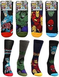6c6e147ad67 Assorted 4 to 12 Pairs Mens Comic Book Superhero Marvel Socks Avengers  Designs UK…