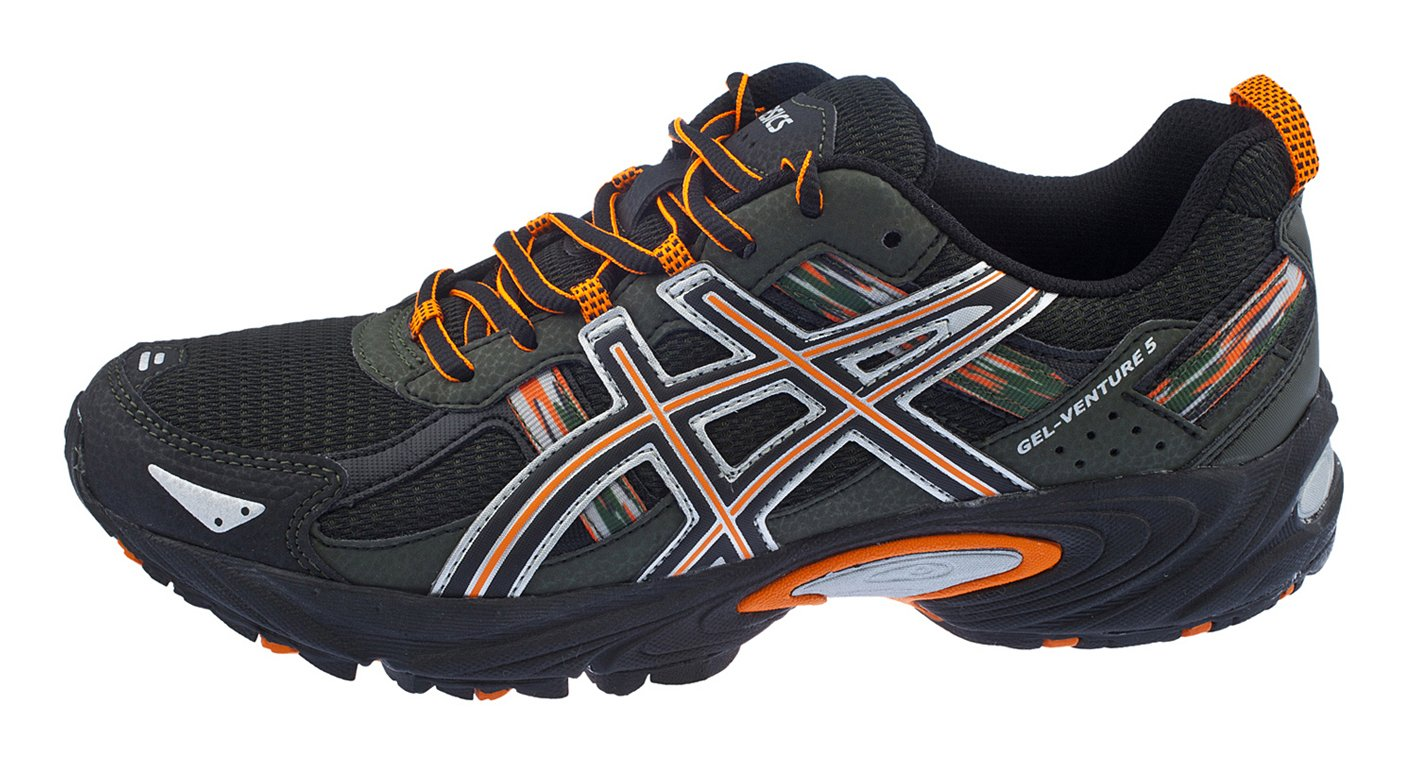 ASICS Men's Gel Venture 5 Running Shoe (8 D(M) US, Black/Shocking Orange/Duffel Bag) by ASICS (Image #6)