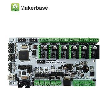 MKS Rumba - Placa de control para impresora 3D Arduino RepRap 2560 R3, compatible con controladores TMC2100/TMC2208/TMC2130/A4988/DRV8825