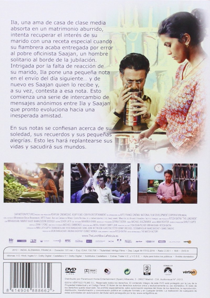 The Lunchbox [DVD]: Amazon.es: Irrfan Khan, Nimrat Kaur ...