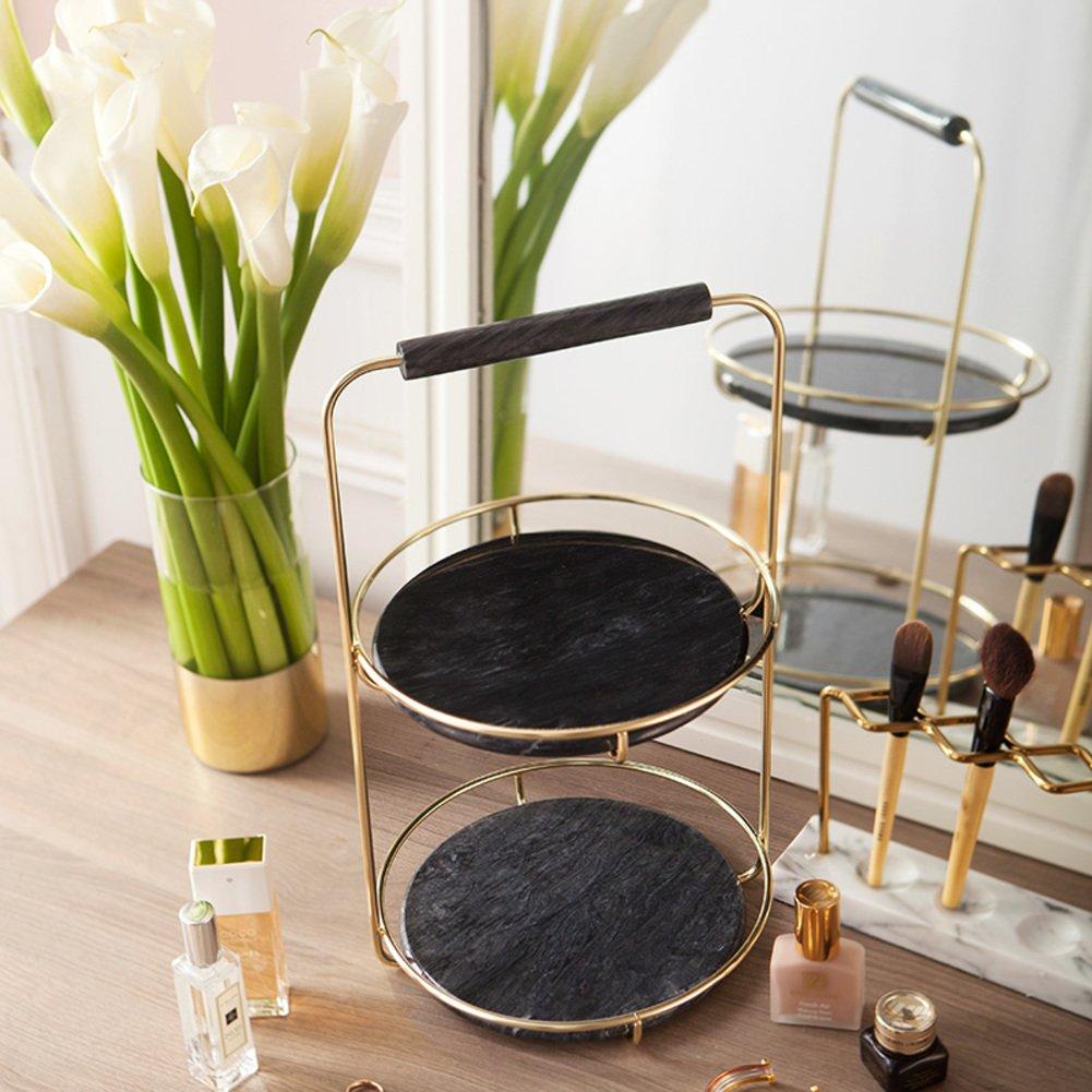Cosmetic Storage Box Rotation Shelf Table Skin Dresser Storage Box