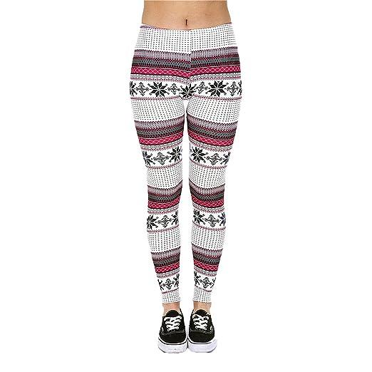 5b54d6dac67b6 [Shop Lev] Women Fashion Holiday Christmas Printed Leggings (Snow Flake)