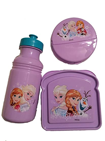 Amazon Com Disney Frozen Elsa Anna And Olaf 3 Piece Lunch Set New