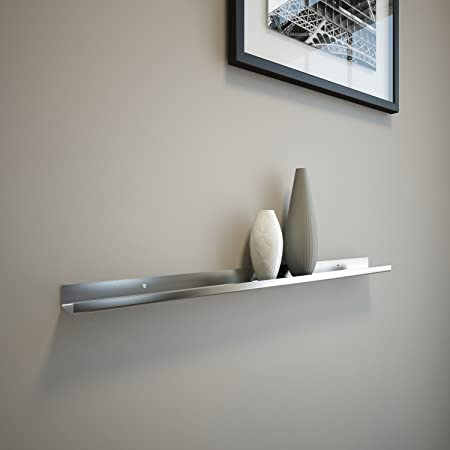 Stainless Steel Floating Ledge Ultra Shelf Art Display Picture Ledge Modern 2 Deep 2 FT Long by 2 Wide