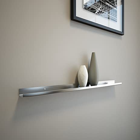 Stainless Steel Floating Ledge/ Ultra Shelf/ Art Display / Picture Ledge /  Modern 2u0026quot