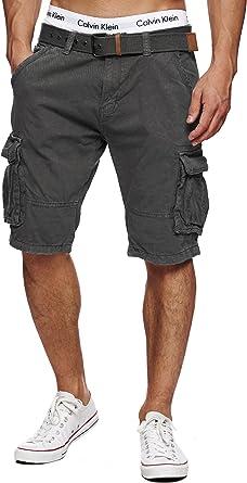Indicode Caballero Monroe Cargo ZA Pantalones Cortos con 6 ...