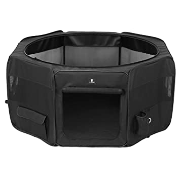 X ZONE PET Black Playpen Portable Foldable Dog/Cat/Puppy Exercise Kennel .