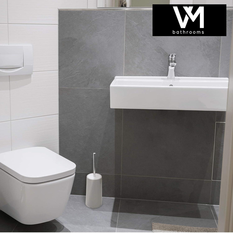 vmbath Rooms Práctico Cepillo de Inodoro - WC Cepillo Cerrado de escobilla en Gris, Gris: Amazon.es: Juguetes y juegos