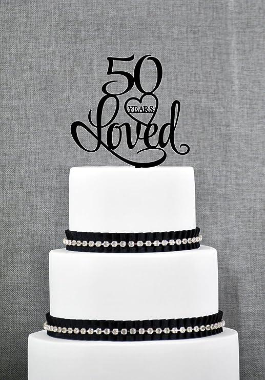 Decoración para tartas de 50 años de cumpleaños para mujer ...