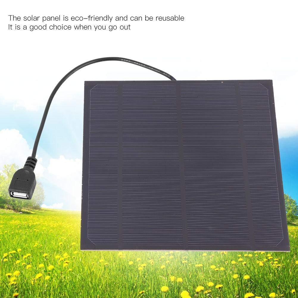 Alomejor Mini Solarzellenpanel 4.5W 6V Monokristallines Solarpanel DIY Batterieladeger/ät Kit 6.50 6.50 Zoll Solarpanel USB Ausgangsschnittstelle