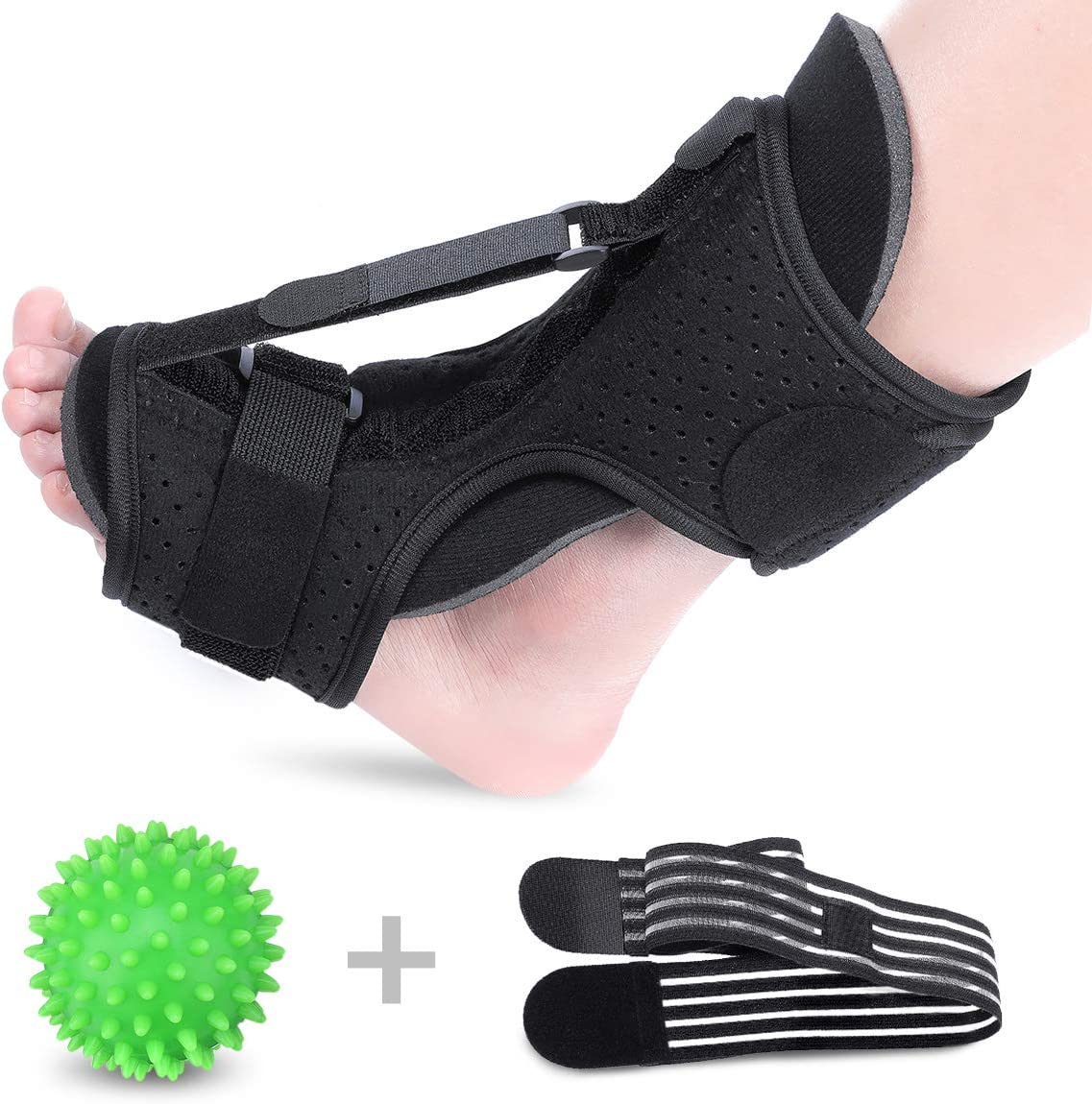 Plantar Fasciitis Night Splint Drop Foot Orthotic Brace, Improved Dorsal Night Splint for Effective Relief from Plantar Fasciitis Achilles Tendoniti