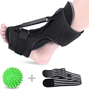 Plantar Fasciitis Night Splint Drop Foot Orthotic Brace, Improved Dorsal Night Splint for Effective Relief from Plantar Fasciitis Achilles Tendoniti