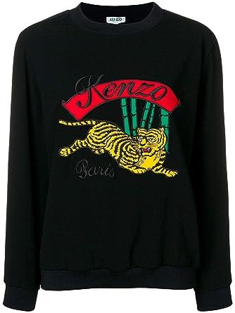 rivenditore online b0a2b 06801 Kenzo Felpa Donna F862TO1205AC99 Cotone Nero: Amazon.it ...
