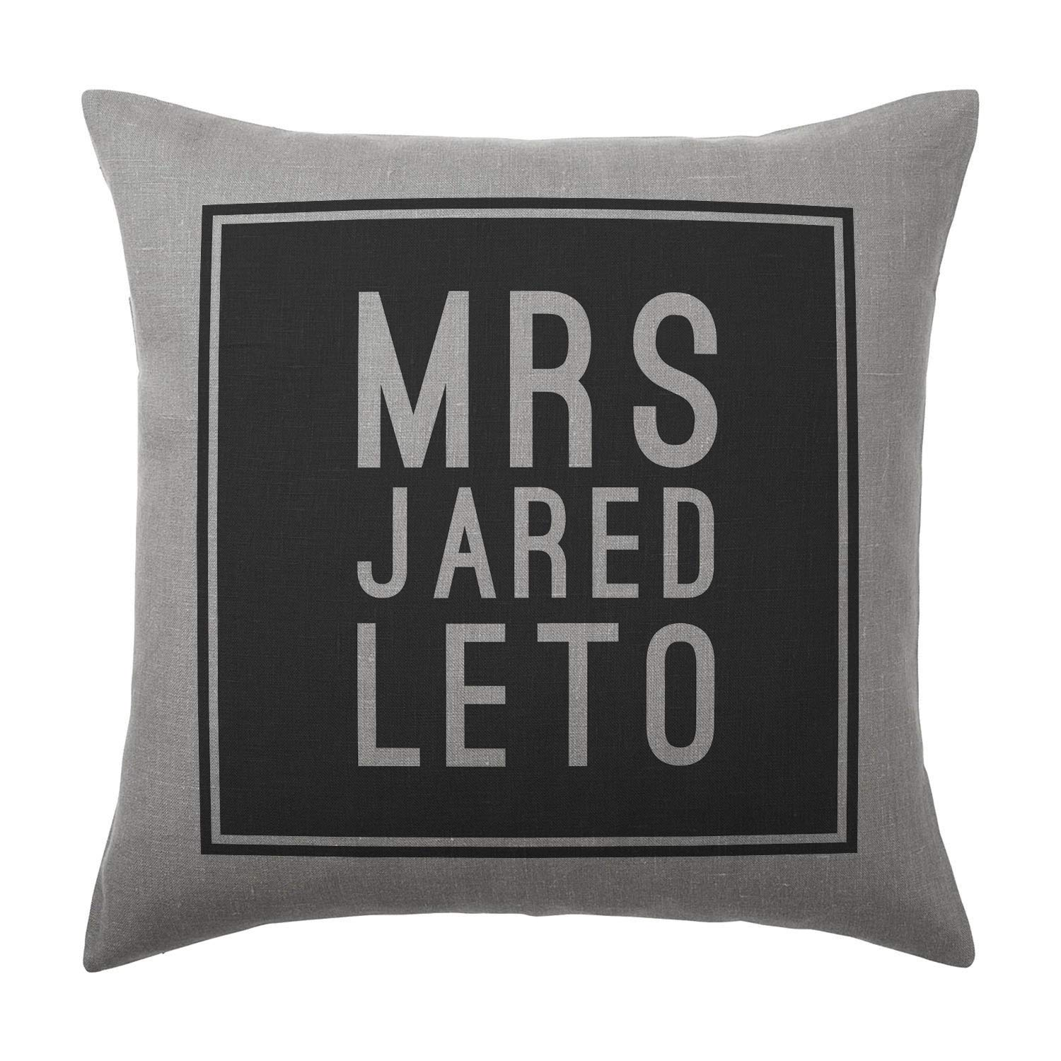 Jared Leto Cushion Pillow - Silver Grey - 100% Cotton - Available with or without filling pad - 40x40cm (Cover and filling pad) The Stocking Fillers
