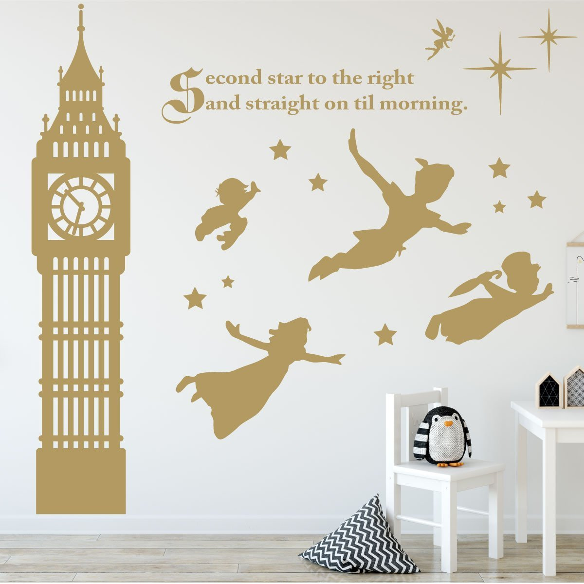 Amazon peter pan decor disney wall decals vinyl art amazon peter pan decor disney wall decals vinyl art stickers for kids room playroom boys room girls room second star to the right with amipublicfo Images