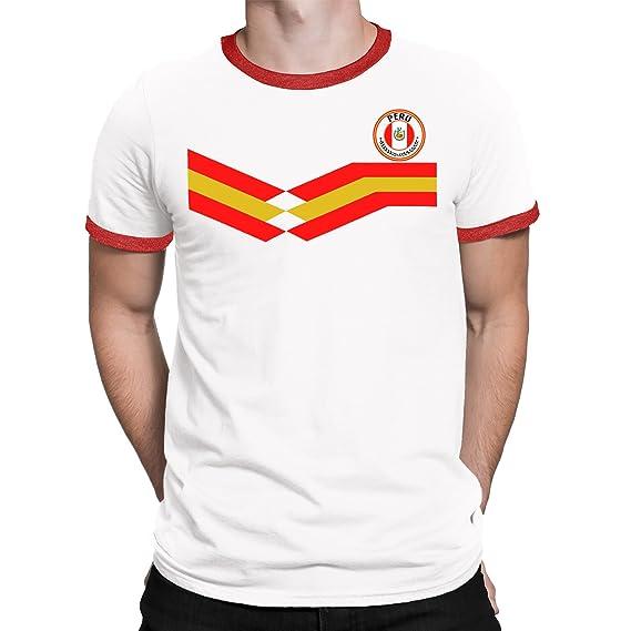 Tee Spirit Peru Camiseta Para Hombre World Cup 2018 Fútbol New Style Retro