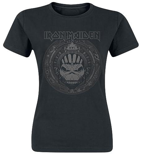 Iron Maiden Book of Souls Skull Camiseta Mujer Negro