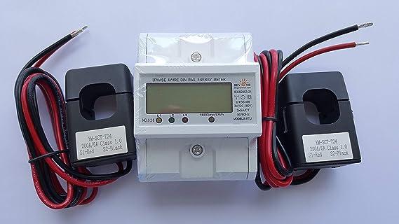 Medidor de energía inteligente 1 2 o 3 fases 120 V/480 V ...