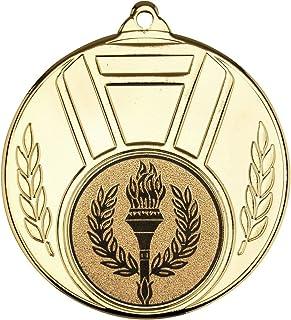 Feuille de Ruban et Médaille–Lot de Trois–Or, Argent et Bronze