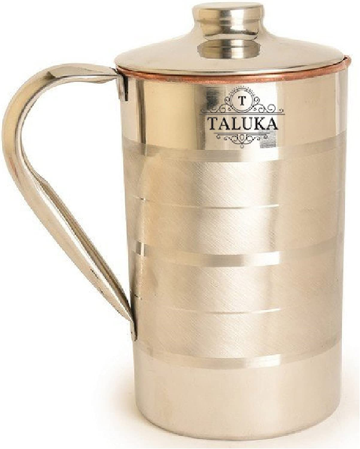 Taluka Copper Stainless Steel Jug, 1.5 Liter, 4.6 X 7.4 Inch, Silver