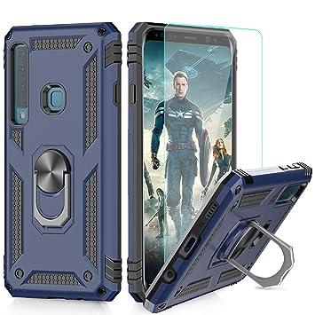 LeYi Funda Samsung Galaxy A9 2018 Armor Carcasa con 360 Anillo iman Soporte Hard PC y Silicona TPU Bumper antigolpes Fundas Carcasas Case para movil ...