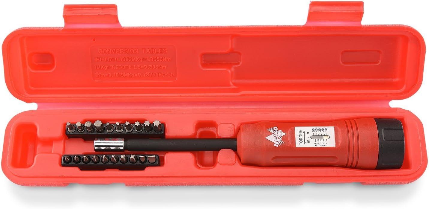 "Neiko 10573B Torque Screwdriver Set 1/4"" Drive Long Shank"