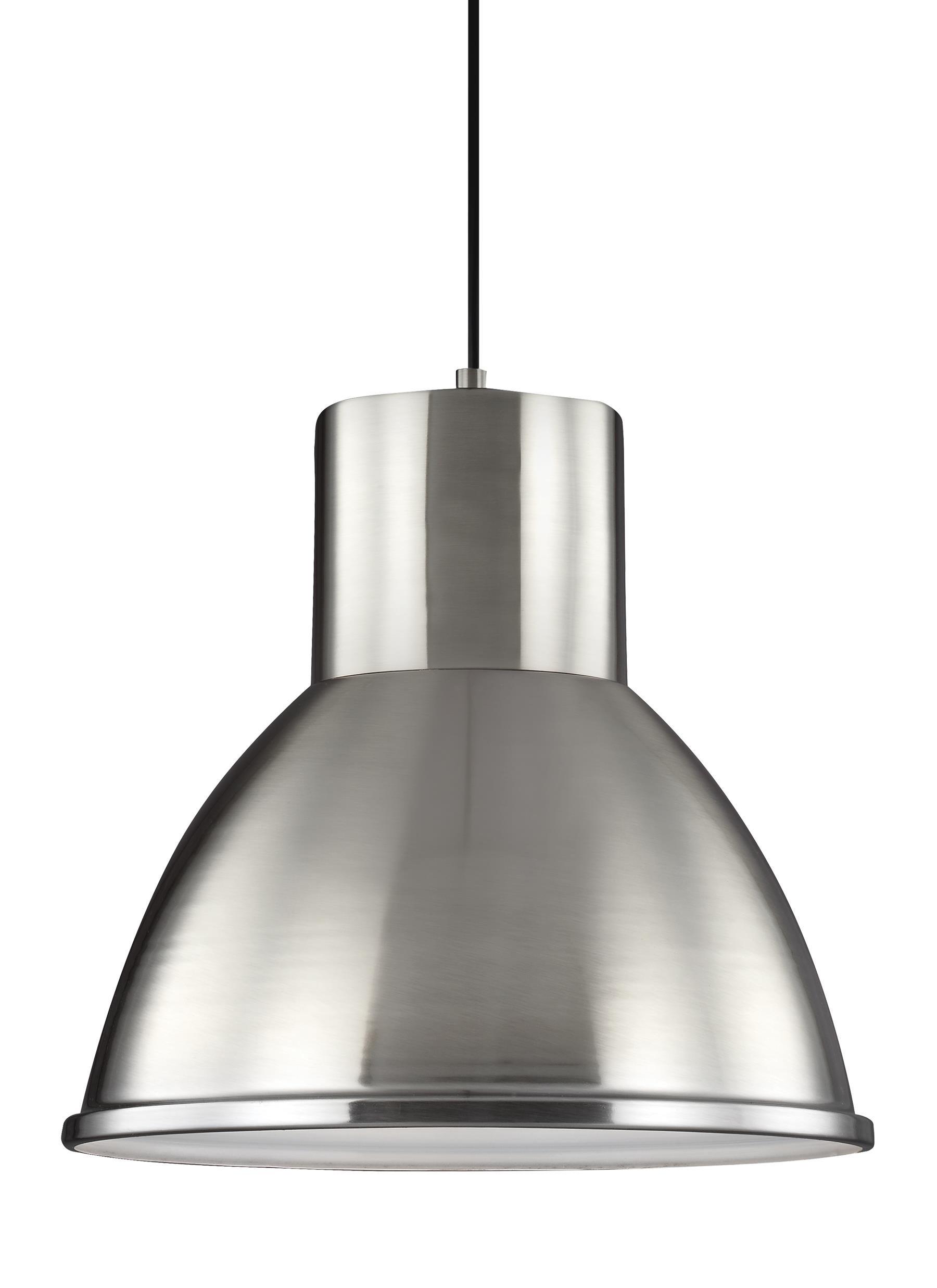 Sea Gull Lighting 6517491S-962 Division Street LED Pendant with Steel Shade, Brushed Nickel Finish
