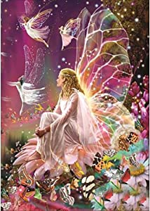 5D DIY Diamond Painting Full Drill, Fairy nature Full Diamond Embroidery Rhinestone Painting By Number Kits Home Decor,Cross Stitch Stamped Kits(30×40CM)