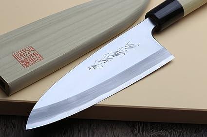 Yoshihiro Left Handed Kasumi Deba Chef Knife 7
