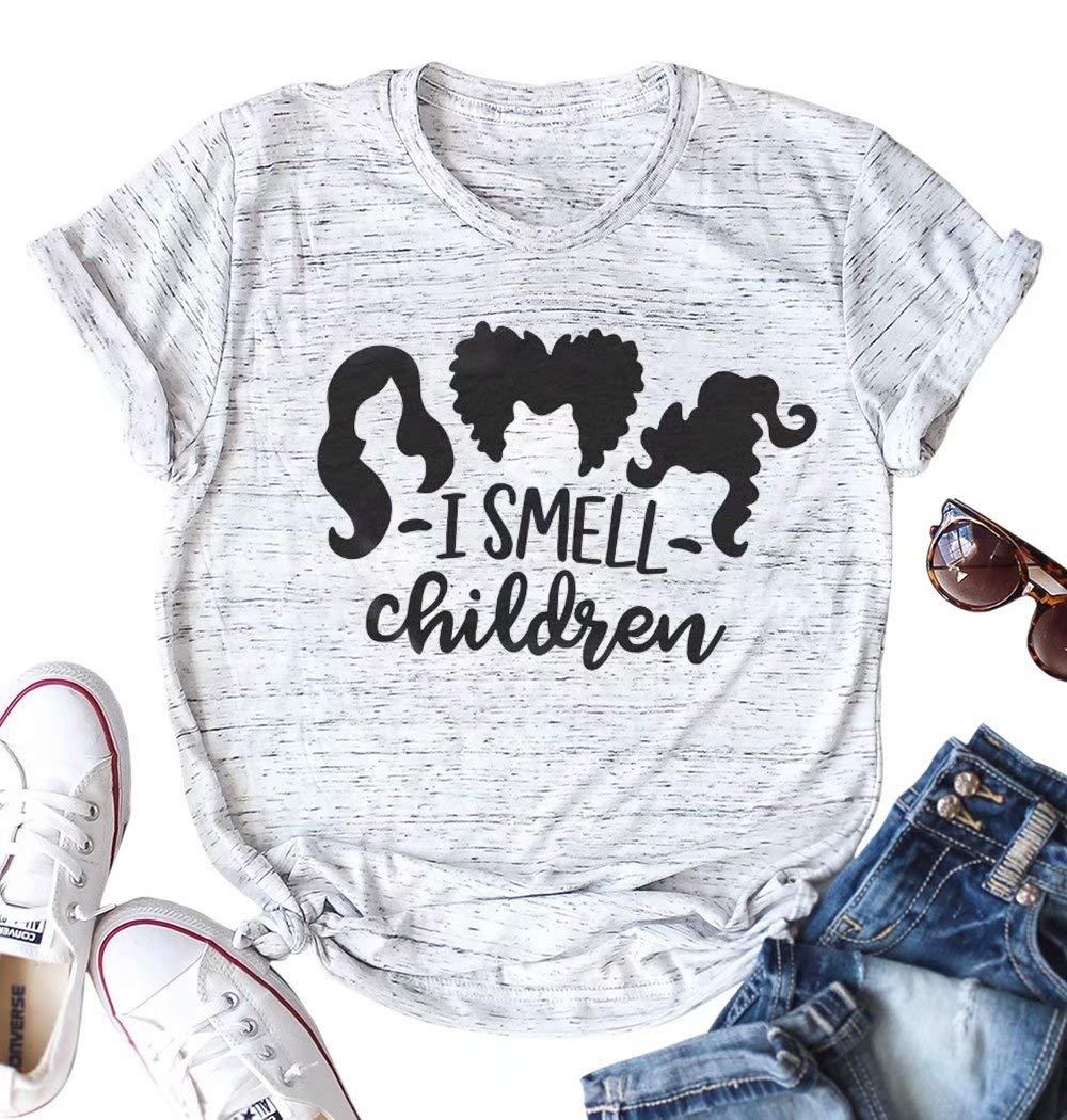 I Smell Children Shirt Hocus Pocus Witch Halloween Custom Ultra Cotton T-Shirt