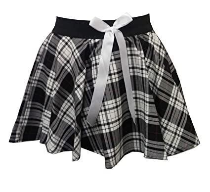 31af84815 Momo&Ayat Fashions Girls Children Tartan Check Mock Bow Circular Skater  Skirt Age 5-10 Years: Amazon.co.uk: Clothing