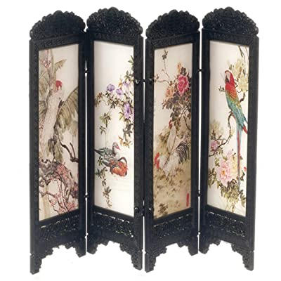Dollhouse Miniature 1:12 Scale Birds Chinese Screen #S8132: Toys & Games